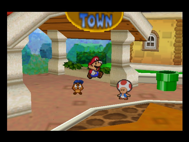 Paper Mario - surpiszed jumping mario - User Screenshot